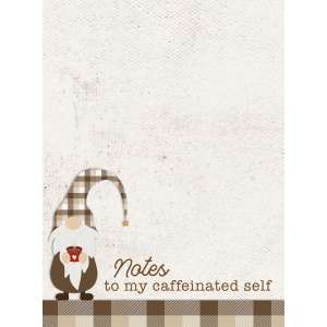 #54097 Notes to My Caffeinated Self Mini Notepad