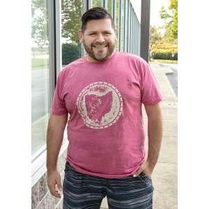 #L63XXL Distressed Ohio T-shirt, Heather Red, XXL