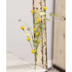 "Yellow Wildflowers Pick, 14"" #17917"