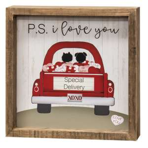 P.S. I Love You Framed Sign #3529