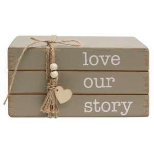 Love Our Story Wooden Bookstack #35532