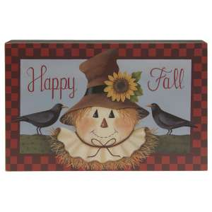 Happy Fall Scarecrow Box Sign #35573