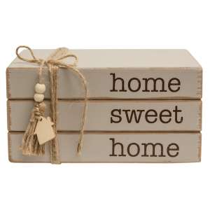 Home Sweet Home Wooden Bookstack #35580