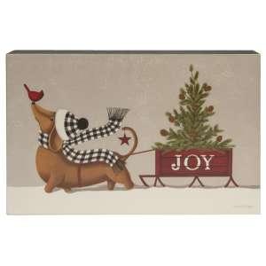Joy Sled & Dog Box Sign #35582