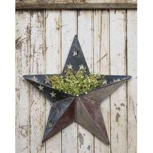 Antiqued Metal Patriotic Star Pocket #70073