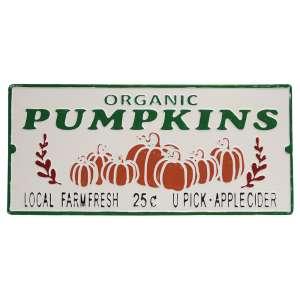 Organic Pumpkins Metal Sign #70086