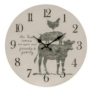 Friends and Family Farm Animal Clock #75019