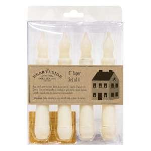 4/Pkg, Ivory LED Tapers #84885
