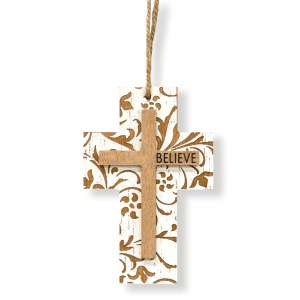 Believe Cross Ornament #90970
