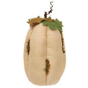 "Mossy White Stuffed Pumpkin 11"" #CS37930"