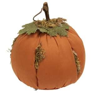 "Mossy Orange Stuffed Pumpkin 6"" #CS38023"