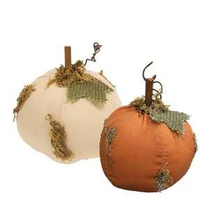 """Mossy Stuffed Pumpkin 3.75"""", 2 Asstd. #CS38028"""
