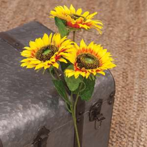 "Bright Yellow Sunflower Spray, 25"" #15013"