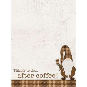 #54098 Things To Do...After Coffee! Mini Notepad