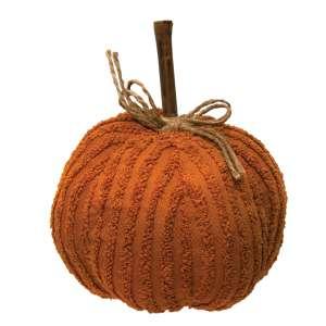 Medium Orange Chenille Pumpkin #CS377021