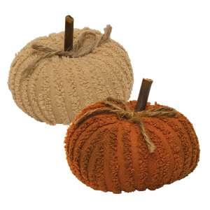 Mini Chenille Pumpkin - 2 asst. #CS37703