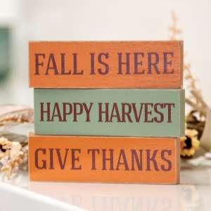 Happy Harvest Skinny Mini Block, 3 Asstd. 35542