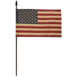 """Teastained USA Flag Pick, 18"""" (10.5"""" x 6.75"""" flag) #CS38210"""