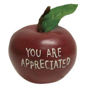 You Are Appreciated Engraved Wooden Apple #13165