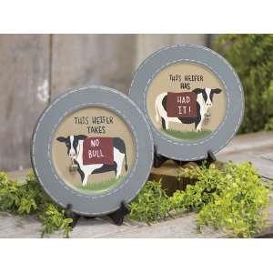 This Heifer Plate, 2 Asstd. #35450