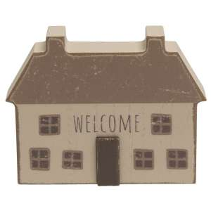 """Distressed Primitive """"Welcome"""" House #35502"""