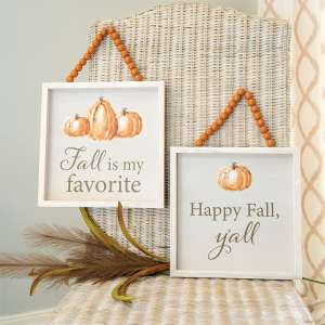Happy Fall Y'all Beaded Sign, 2 Asstd. 35544