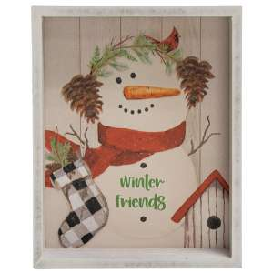 Winter Friends Snowman Inset Box Sign #35597