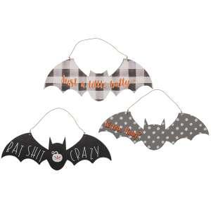 Bat Shit Crazy Ornament, 3 Asstd. #35603