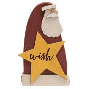 Wish Santa Wooden Sitter #35673