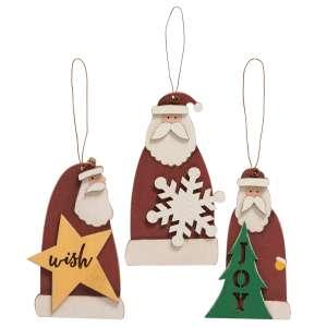 3/Set, Mini Santa Ornaments #35678