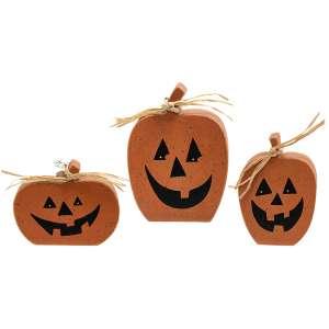 3/Set, Chunky Reversible Pumpkin Sitters #356853/Set, Chunky Reversible Pumpkin Sitters #35685