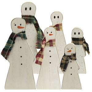 3/Set, Reversible Ghost & Snowman Sitters #35709