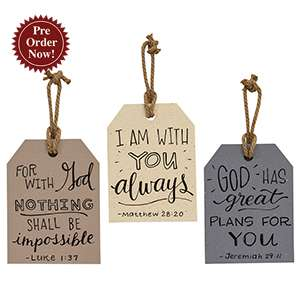 Words of Comfort Large Wooden Tag, 3 Asstd. #35817