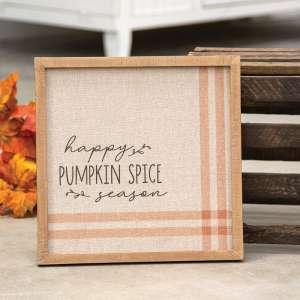 Happy Pumpkin Spice Season Feed Sack Frame 65182