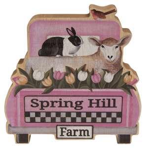 Spring Hill Farm Chunky Wood Truck Sitter #35627