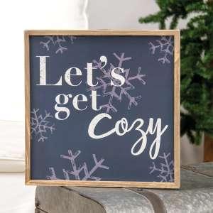 Let's Get Cozy Snowflake Frame 35654