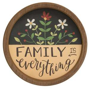 Family is Everything Round Sign, 2 Asstd. #35788
