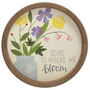 Home Is Where We Bloom Round Sign, 2 Asstd. #35793