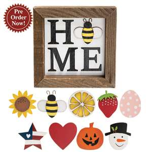 Home Magnetic Sign w/9 Magnets #35854