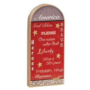 Patriotic Words Chunky Silo Sitter #36109