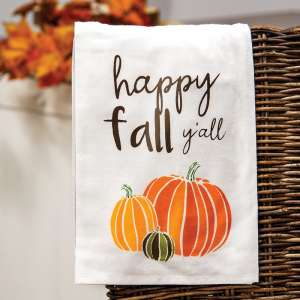 Happy Fall Y'all Dish Towel 54070