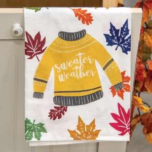 Fall Sweater Dish Towel 54071