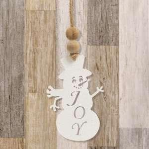 Joy Cutout Snowman Ornament #70088