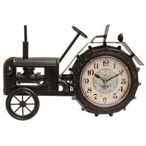Farmhouse Black Tractor Clock #75030