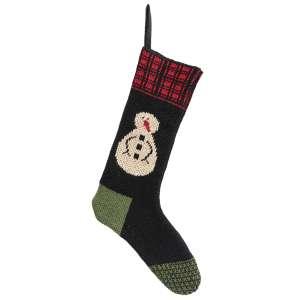 Knit Red Top Snowman Stocking #CS38384