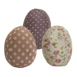 Vintage Fabric Egg, 3 Asstd. #CS38003