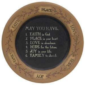 """""""May You Have..."""" Tag and Berry Plate #31499"""