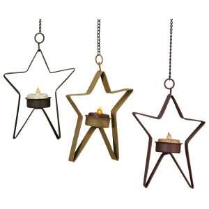 Hanging Tealight Metal Stars #46211