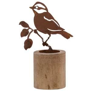 Rusty Bird Tealight Holder - Large #90148