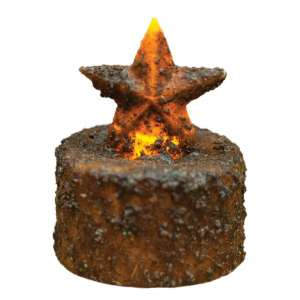 Burnt Mustard Star Timer Tealight - # 84237